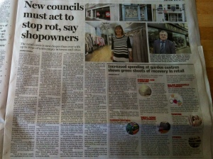 The Sunday Independent article highlighting the need for action in Naas Town